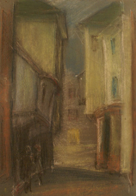 Untitled (Street Scene withTwo Figure)