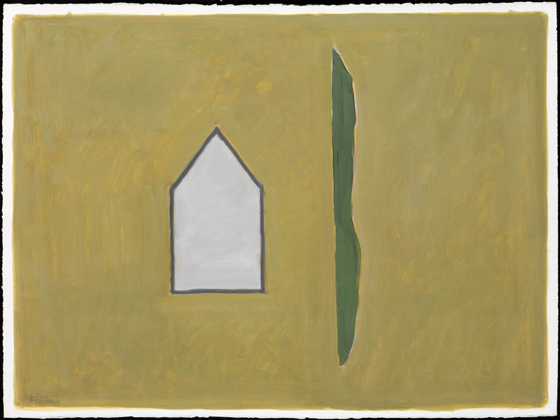 Untitled (house, hedge)