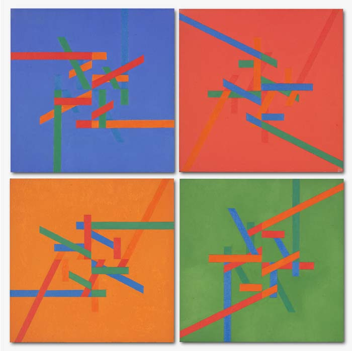 Untitled (Four coloured units)