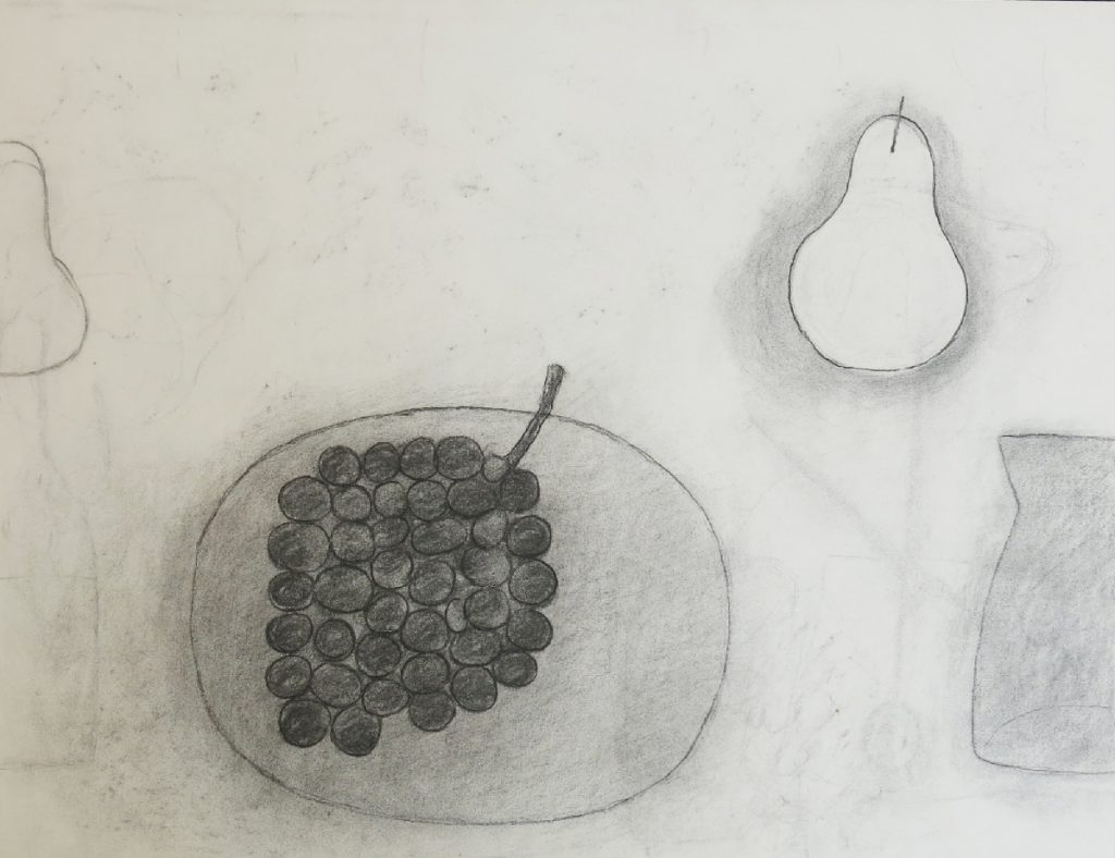 Untitled (Plate, Grapes, Pear & Jug)