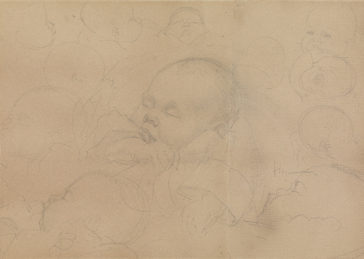 Studies of Sleeping Child: The Artists Nephew Peter