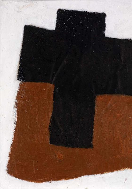 Cross (Black on Brown)