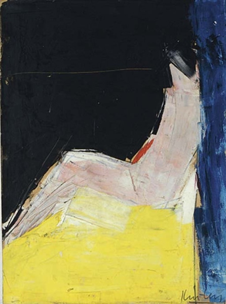 Untitled (Abstract study of a seated figure)