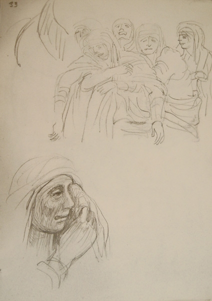 Studies for an Italian Pieta & Seated Mother and Child