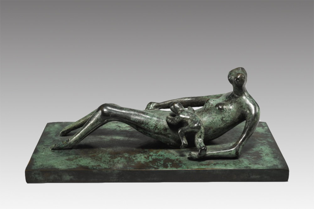 Reclining Mother and Child IV