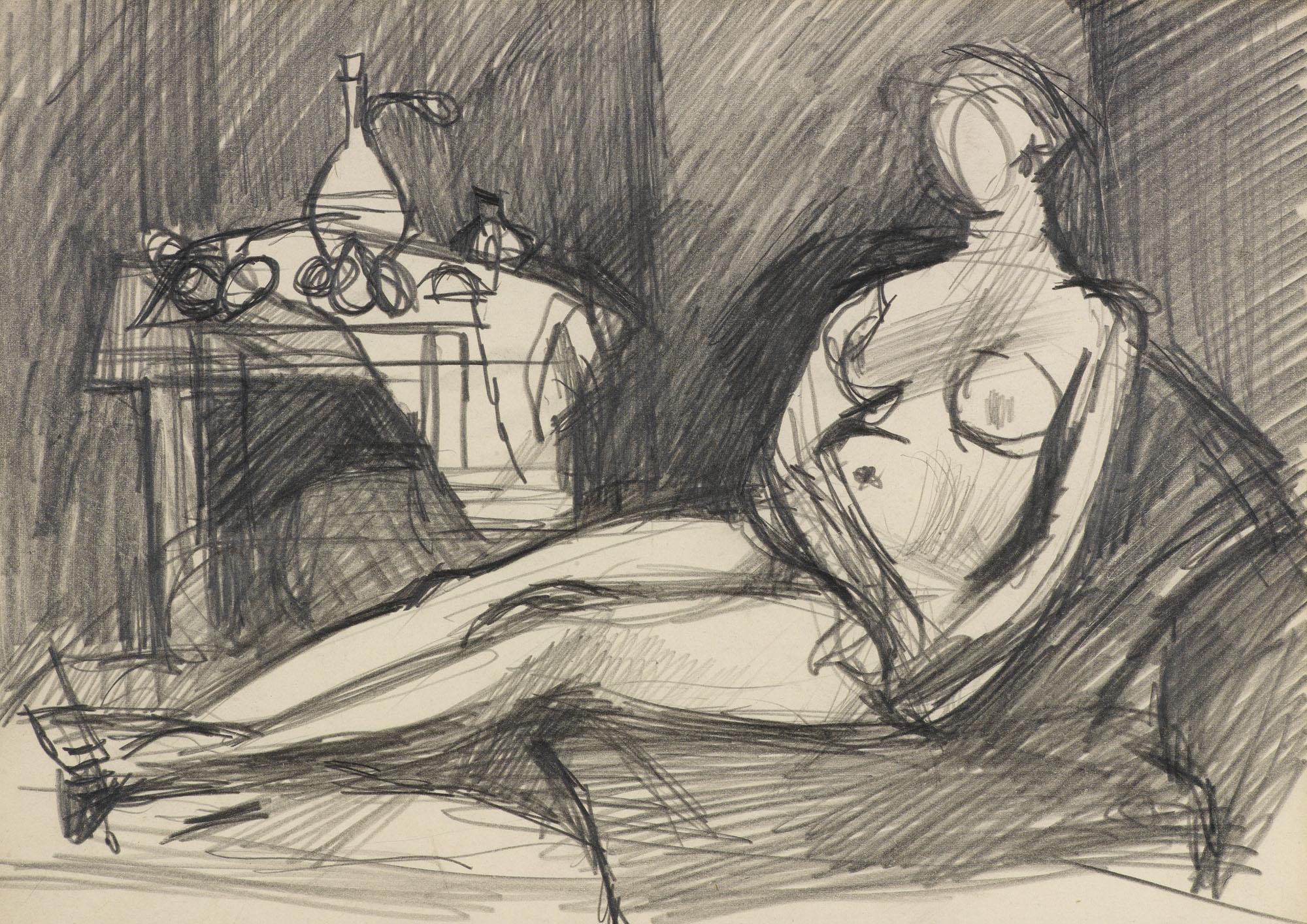 Female Nude in Interior