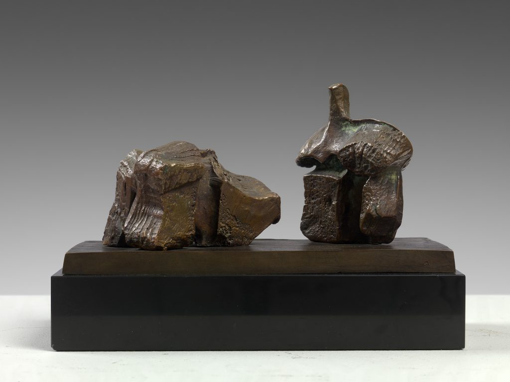 Two Piece Reclining Figure: Maquette No. 1