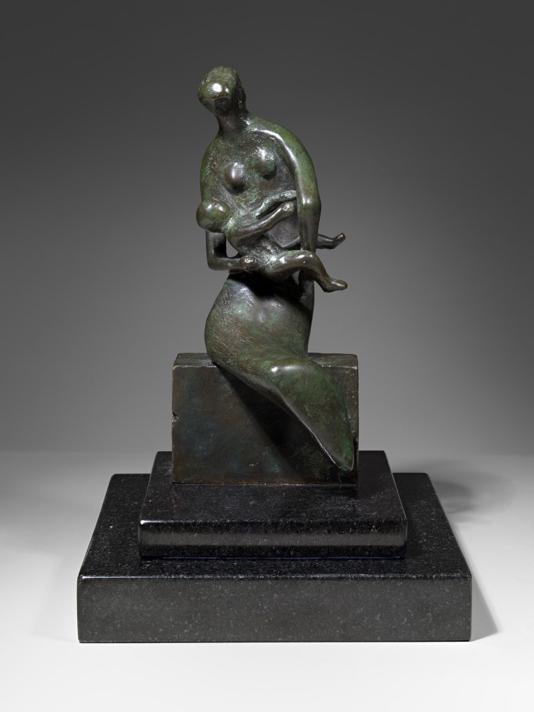 Maquette for Curved Mother and Child