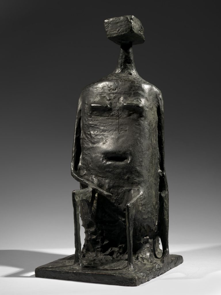 Seated Woman with Square Head (Version B)