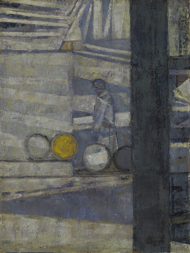 Barrels in a Yard