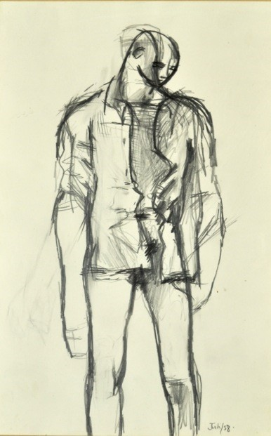Untitled (Standing Youth with a Shirt)