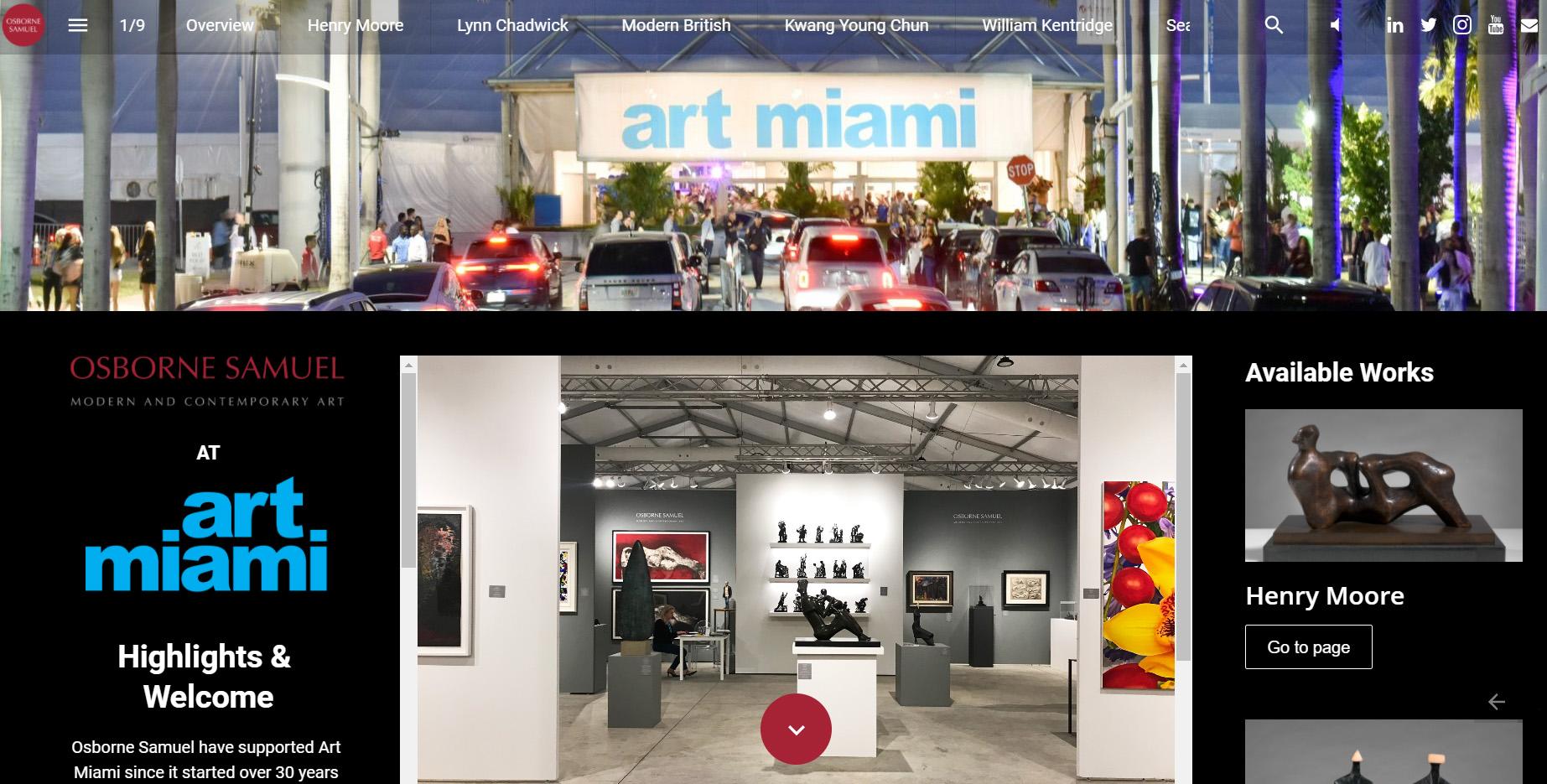 Interactive Catalogue – Art Miami 2021