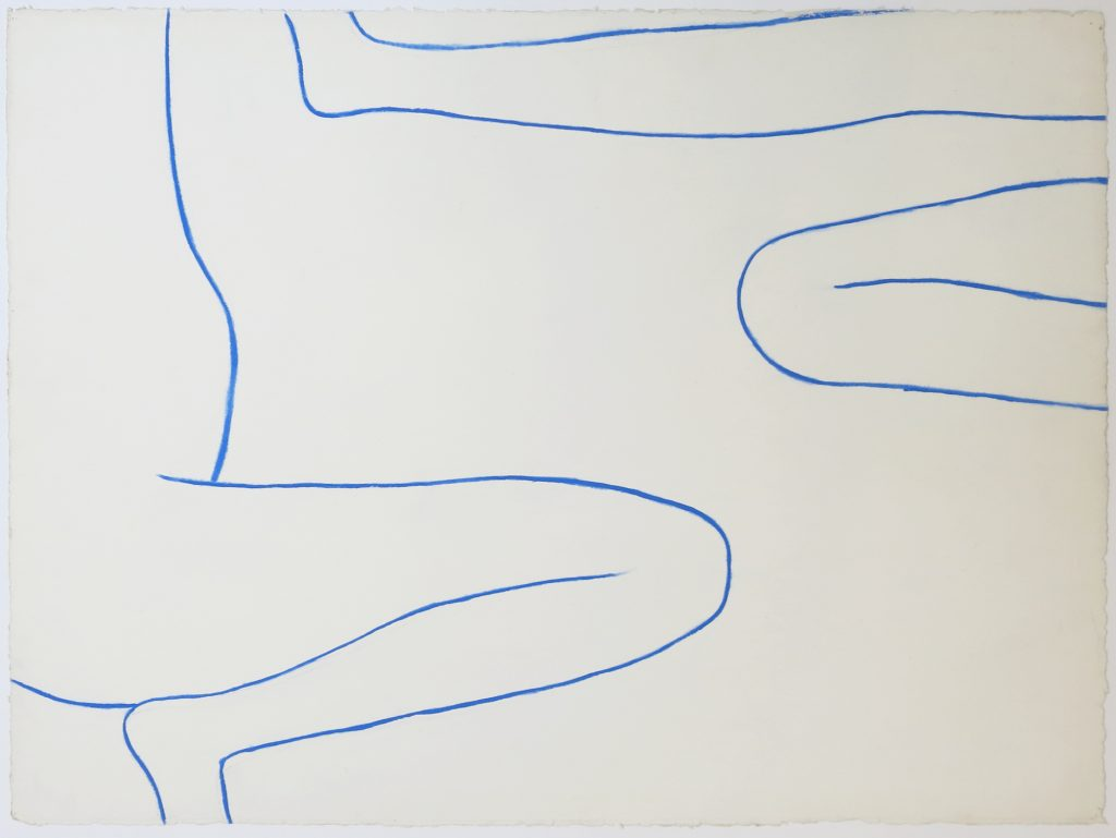 A Girl Surveyed – Drawing in Blue No 8