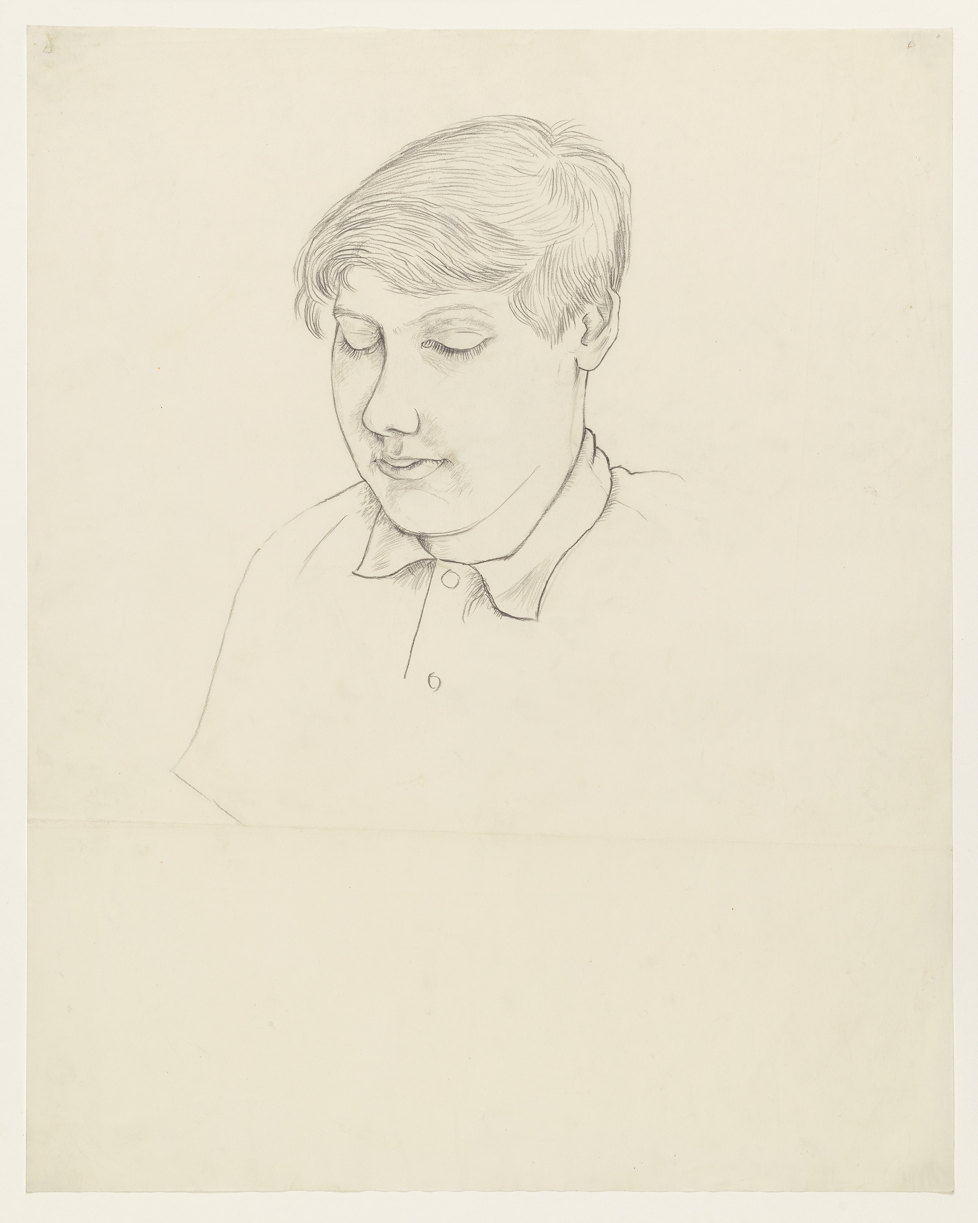 Portrait of Young Man Looking Down