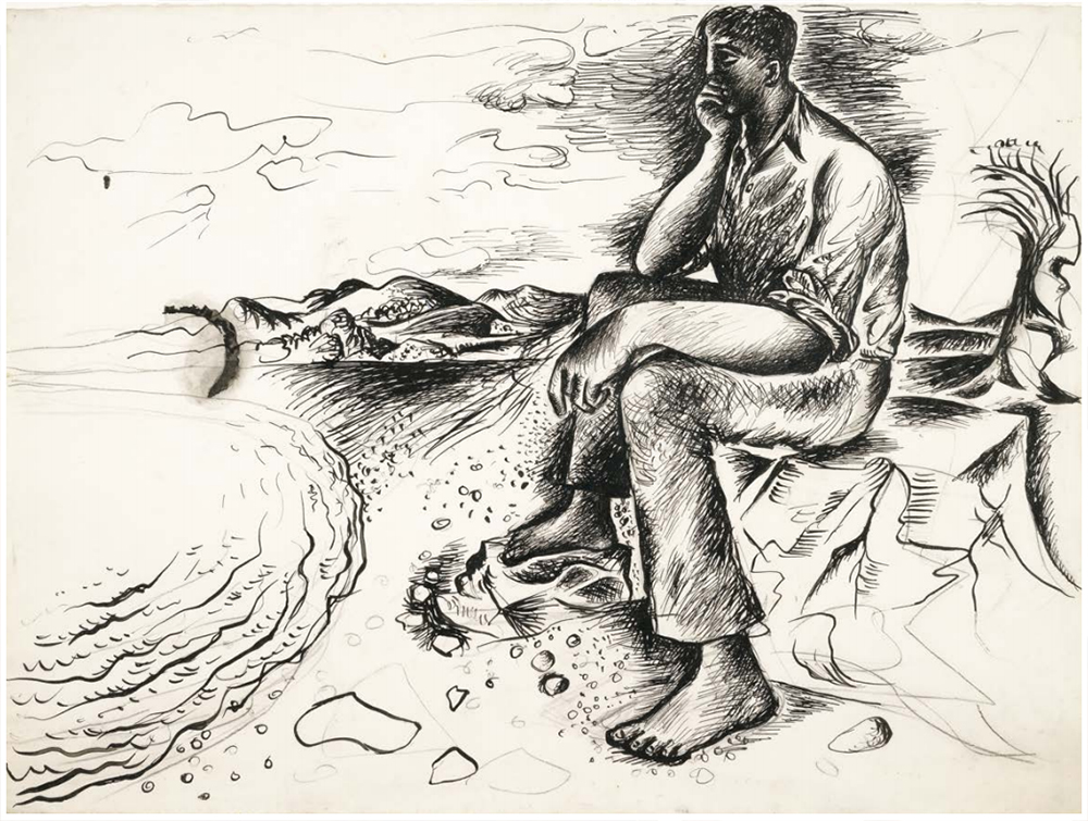 Dreamer on the Seashore