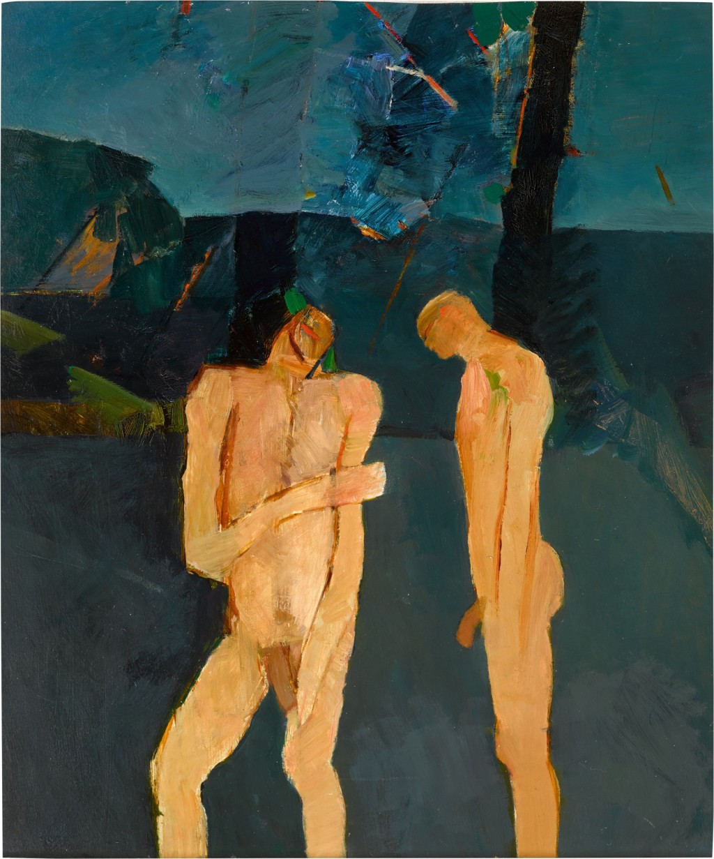 Two Bathers by a Pool